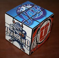 Redo a Rubik's Cube with any pictures--sports teams for boys, princesses for girls, grandkids for grandparents