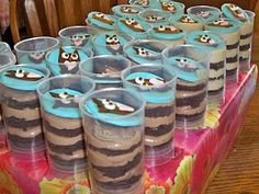 Owl Cupcake Push Pops Birthday Party Ideas