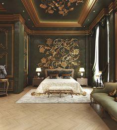 Palace Interior, Mansion Interior, Luxury Interior, Home Interior Design, Luxury Bedroom Design, Master Bedroom Interior, Modern Bedroom, Bedroom Classic, Classic Bedroom Furniture