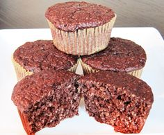 Dukan Diet Chocolate Peppermint Oat Bran Muffins