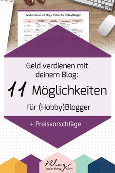 Geld verdienen mit Blogs funktioniert nicht nur über Sponsored Posts. Hier sind noch viel mehr Möglichkeiten inklusive Preisvorschläge und Tools!