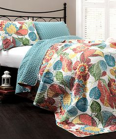 Love this!  This Orange & Blue Layla Quilt Set by  is perfect! #zulilyfinds