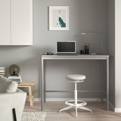 """TOMMARYD Table, light gray, Length: 51 1/8"""" Height: 41 3/8"""". Shop today! - IKEA Tubular Steel, Learning Spaces, Particle Board, Clean Design, Creative Home, Light Table, Foot Rest, That Way"""