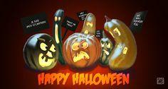 Papa VanO.: Happy Halloween Drawing, Pumpkin Carving, Happy Halloween, Painting, Illustrations, Blog, Drawing Drawing, Paintings, Sketch