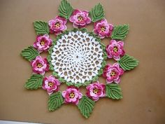 Free Crochet Rose Doily Pattern | Free Pattern Links