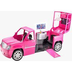 Barbie Car, Princess Barbie Dolls, Barbie Doll Set, Bad Barbie, Barbie Toys, Bounce House Birthday, 10 Birthday, Birthday Ideas, Pink Truck