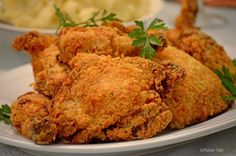 This oven fried buttermilk chicken from platter talk starts in a skillet and finishes directly on an rack in your hot oven. Licking fingers is acceptable.