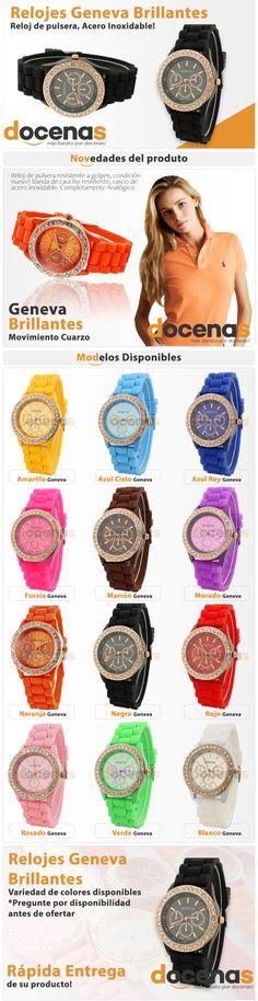 Anuncio, Relojes Geneva Brillantes. Cliente Docenas. Elaborado por iGrafi
