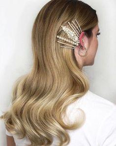 25 Hairstyles for Medium Length Hair Featuring Hair Clips - Icy Dimes - cute braided hairstyles Box Braids Hairstyles, Cute Braided Hairstyles, Bobby Pin Hairstyles, Cool Hairstyles, Bridal Hairstyles, Formal Hairstyles, African Hairstyles, Hair Accessories For Women, Hair Jewelry