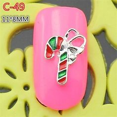 Kaifina 10PCS C-47 New Design Silvery Colorful 3D christmas Gift Style Alloy Nail Art Decoration nail salon DIY ** Visit the image link more details.