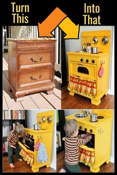 How To Repurpose a Dresser Without Drawers – 9 DIY Repurposed Dressers Makeover Ideas – Involvery – ✅ Jennifer's Easy DIY – Thrift Store Crafts Diy Kids Furniture, Repurposed Furniture, Furniture Makeover, Barbie Furniture, Dresser Furniture, Garden Furniture, Furniture Design, Furniture Projects, Smart Furniture