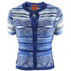 Missoni Blue Multi Stripe Twinset ($1,080) ❤ liked on Polyvore