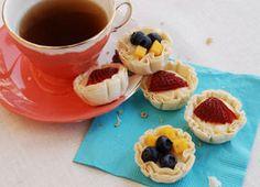 Fruit and Buttermilk Tartlets