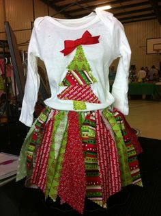 Christmas tree shirt and fabric tutu