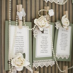 lace, pearls and paper roses table plans www.bohemiandreams.co.uk