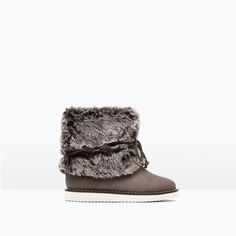 ZARA - NEW IN - LINED BOOTS WITH CONTRASTING SOLE