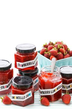 Strawberry Limoncello Jam (plus FREE printable labels!)