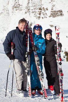 Skiing in Courchevel with Konrad Bartelski & Heather Mills