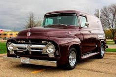 Chevy trucks aficionados are not just after the newer trucks built by Chevrolet. They are also into oldies but goodies trucks that have been magnificently preserved for long years. Ford 56, 1956 Ford Truck, Old Ford Trucks, Pickup Trucks, Hot Rod Trucks, Cool Trucks, Cool Cars, Ford Classic Cars, Classic Chevy Trucks
