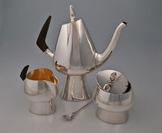 Finnish metalsmith Heikki Seppa coffee service