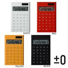 【楽天市場】±0 プラスマイナスゼロ Calculators 電子計算機S 電卓 ZZD-R020 【楽ギフ_包装】:コレクターズ