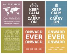 LDS MISSIONARY Art... Looking for a gift for a child, grandchild, or friend serving a mission.  This is the perfect pick-me-up.