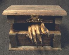 Mummified mystery hand--curio for victorian cabinet of curiosities. I so need one of these...and a victorian cabinet of curiosities! From CustomCreature on etsy.