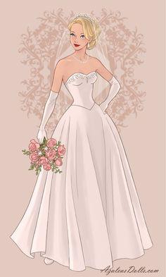 Disney Princess Fashion, Disney Princess Dresses, Korean Fashion Dress, Fashion Dresses, Wedding Dress Drawings, Doll Divine, Anime Dress, Cultura Pop, Princess Wedding