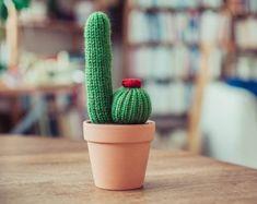 Mini 3.5 Knitted Cactus  Miniature Cactus Knit Cactus