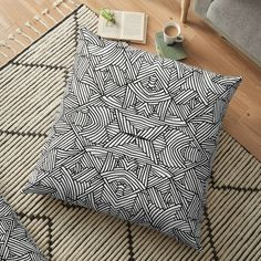 'Franny' Floor Pillow by Jiggy Creationz Spiral Art, Pillow Design, Floor Pillows, Finding Yourself, Cushions, Flooring, Art Prints, Printed, Awesome
