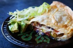 Taco pie...someone made this for us after Molly May was born, and I love it! You can put anything in there. Serve with lettuce, sour cream, and avocado :)