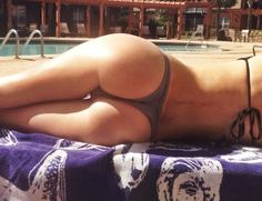 Sexy butt by the pool