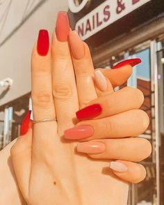 Acrylic Nails Coffin Short, Simple Acrylic Nails, Summer Acrylic Nails, Acrylic Nail Designs, Simple Nails, Summer Nails, Spring Nails, Fruit Nail Designs, Fall Nail Designs