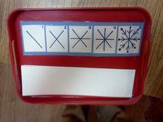 Montessori Design: snowflake drawing