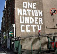 I find this piece very interesting as Banksy constructed this piece whilst under 24/7 CCTV.. how on earth did he get away with that?