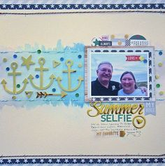 #papercraft #scrapbook #layout. Life & Memories: Glitter, Sparkle and Shine on a Scrapbook Layout