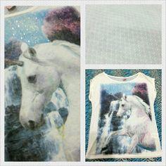 Camiseta com estampa linda de unicórnio www.corujeets.com Tamanho P #camiseta #unicorn #shirt #lookoftheday #ootd #outfit