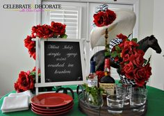 I am getting this one in just under the wire, but with everything going on with my upcoming move into a new house, I almost neglected the Kentucky Derby! I love all of the tradition surrounding the Kentucky Derby. The red roses, the outrageous hats, the mint juleps served in silver cups, the colorful silks …