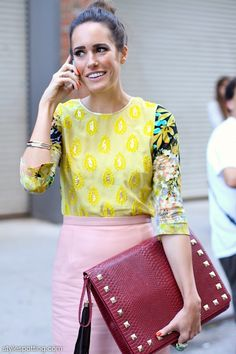"""Louise Roe in her own accessories collection on stylespotting.com////""""Wow, look @ that gorgeous clutch! I love it!"""""""