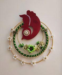 Arti Thali Decoration, Ganpati Decoration Design, Diwali Decoration Items, Diwali Decorations At Home, Festival Decorations, Diwali Diy, Diwali Craft, Diy Home Decor Projects, Decor Crafts