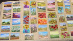 A collection of mini pastels painted on vacation. See my plein air kit on my blog!