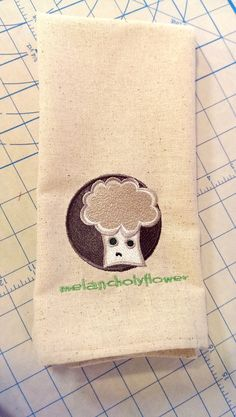 Melancholyflower is the Cutest Sad Vegetable Hand Towel