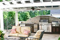 Kitchen Contractors, Custom Pools, Pool Builders, Outdoor Living, Outdoor Decor, Outdoor Kitchens, Living Spaces, Pergola, Outdoor Structures