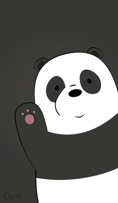 Download 96+ Gambar Panda Background Hitam Keren Gratis
