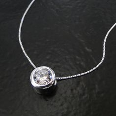 Diamond CZ Solitaire Necklace - Sterling Silver, As Seen On Kelly Ripa. $39.00, via Etsy.