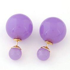 Soft Purple Round Shape Simple Design Stud