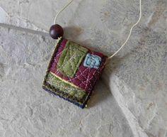Crazy Quilt   Textile Necklace / Inspirational by ArtofJane2