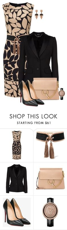 """Untitled #4594"" by barones-tania ❤ liked on Polyvore featuring Balmain, Alexander McQueen, Chloé, Christian Louboutin and Gucci"