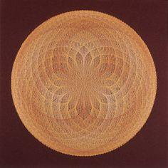 String Art Golden Lotus String Mandala