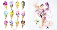 Enya Todd la ilustradora de origen chino nos muestra sus hermosos dulces!!!😍 #illustration #ilustrator #ilustración #ilustradora #food #cake #dulces #pasteles  #EnyaTodd  @Enya'sartofpatisserie